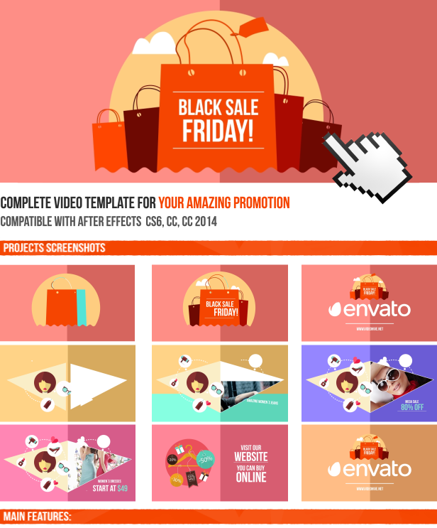 how to use adobe after effects templates - black friday sale online promo after effects project